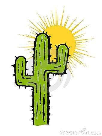 340x450 Cactus Clipart Sun