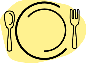300x221 Iammisc Dinner Plate With Spoon And Fork Clip Art