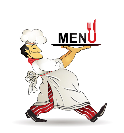 421x454 Restaurant Menu Chef Pattern Vector Free Vector 4vector
