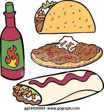 344x370 Table Clipart Mexican Restaurant