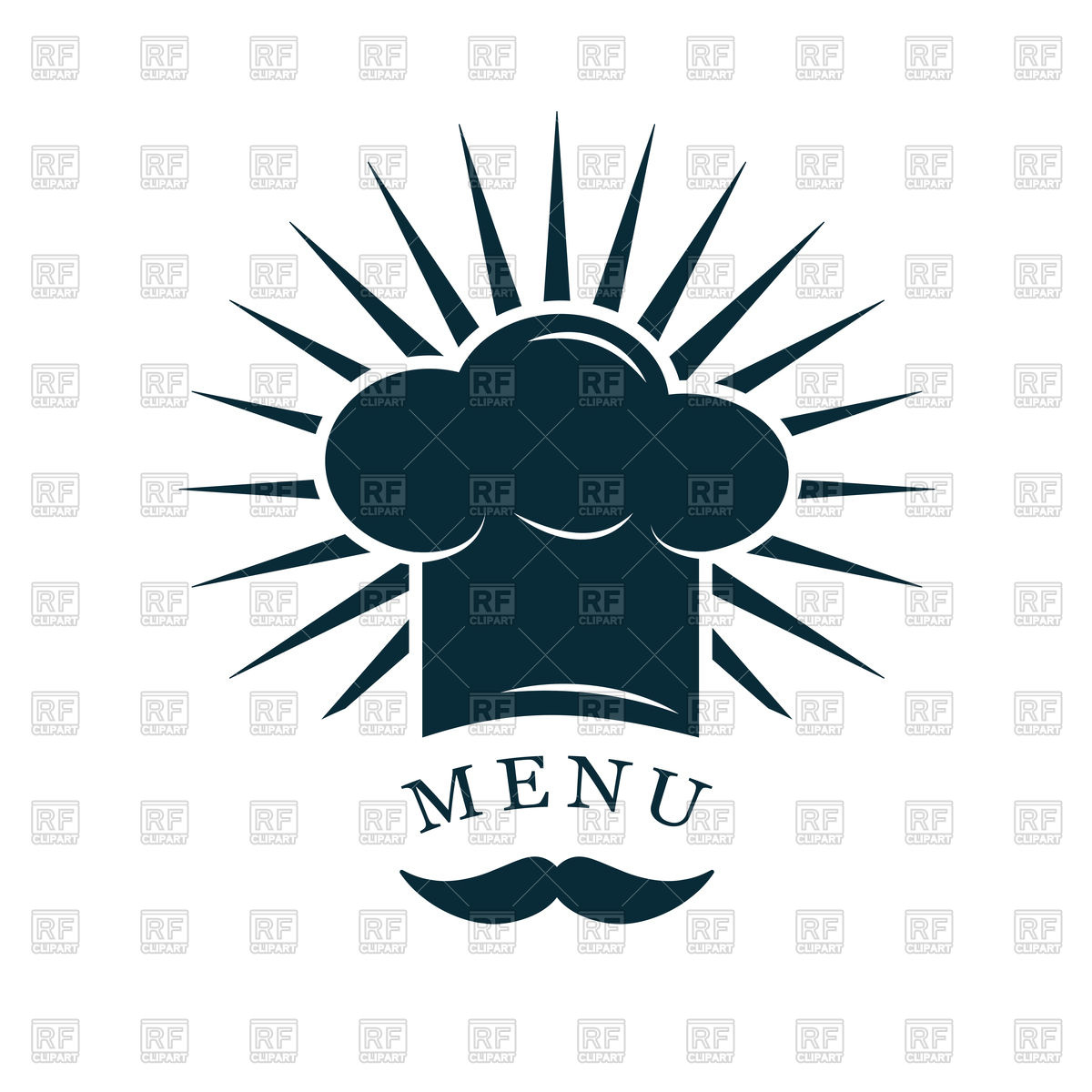 1200x1200 Chef Hat With Mustache