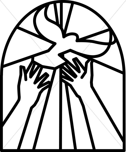 510x612 Christian Easter Black And White Clipart