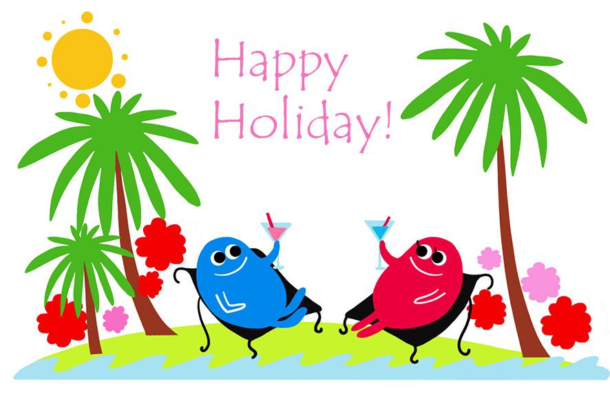 886x599 Happy Holidays Summer Clip Art Graphics