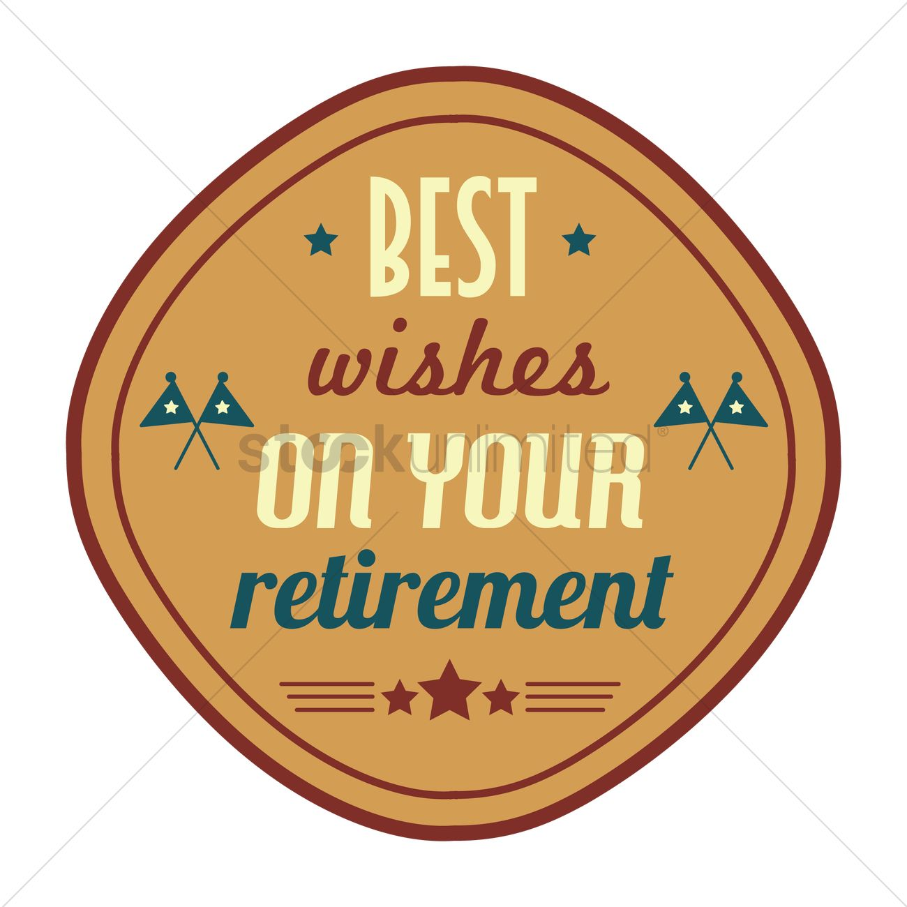 1300x1300 Best Wishes On Your Retirement Vector Image