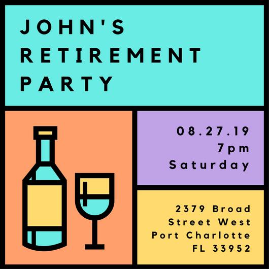 530x530 Retirement Party Ideas