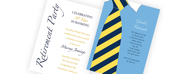 746x300 Retirement Invitations, Retirement Party Invitations