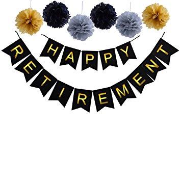 355x355 Happy Retirement Banner Bunting Retirement Party