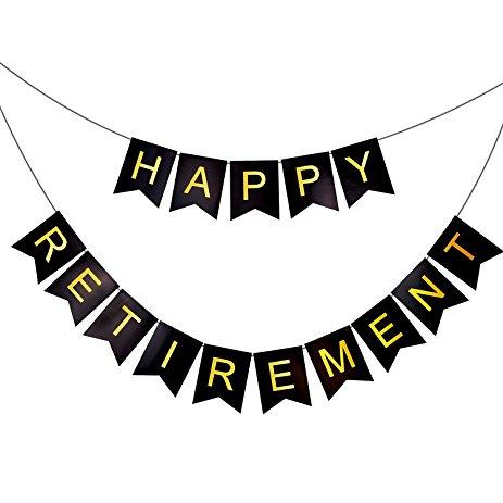 463x463 Happy Retirement Banner Bunting