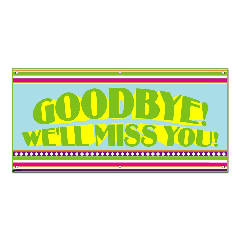 1000x1000 Goodbye We'Ll Miss You Colorful Stripes