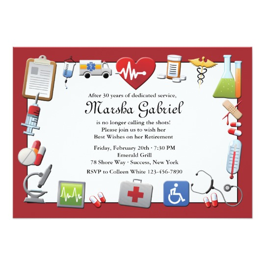 540x540 Medical Retirement Party Invitation