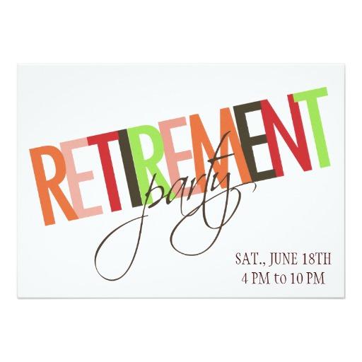 512x512 Retirement Party Invitation 5 X 7 Invitation Card Party Ideas
