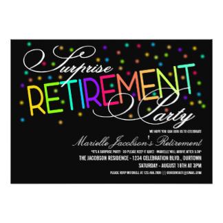 324x324 Surprise Retirement Party Invitations Amp Announcements Zazzle