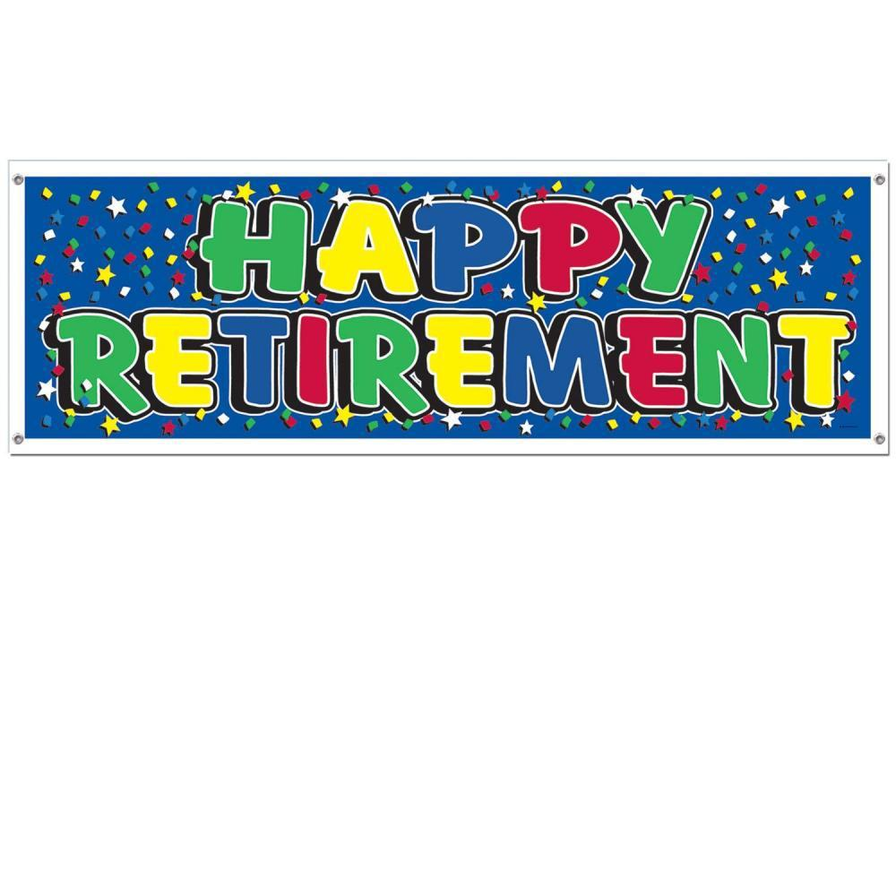 1000x1000 Signs Retirement Party Happy Retirement Sign Banner Wonderful