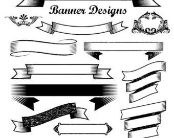 340x270 Retro Banner Cliparts