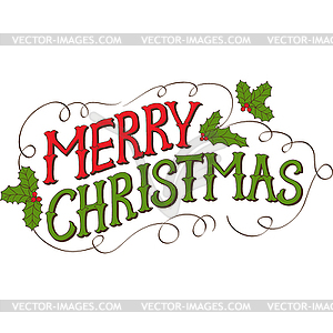 300x300 Vintage Merry Christmas Clipart
