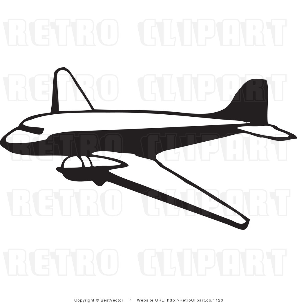 1024x1044 Airline Clipart Royalty Free Black And White Retro Vector Clip Art