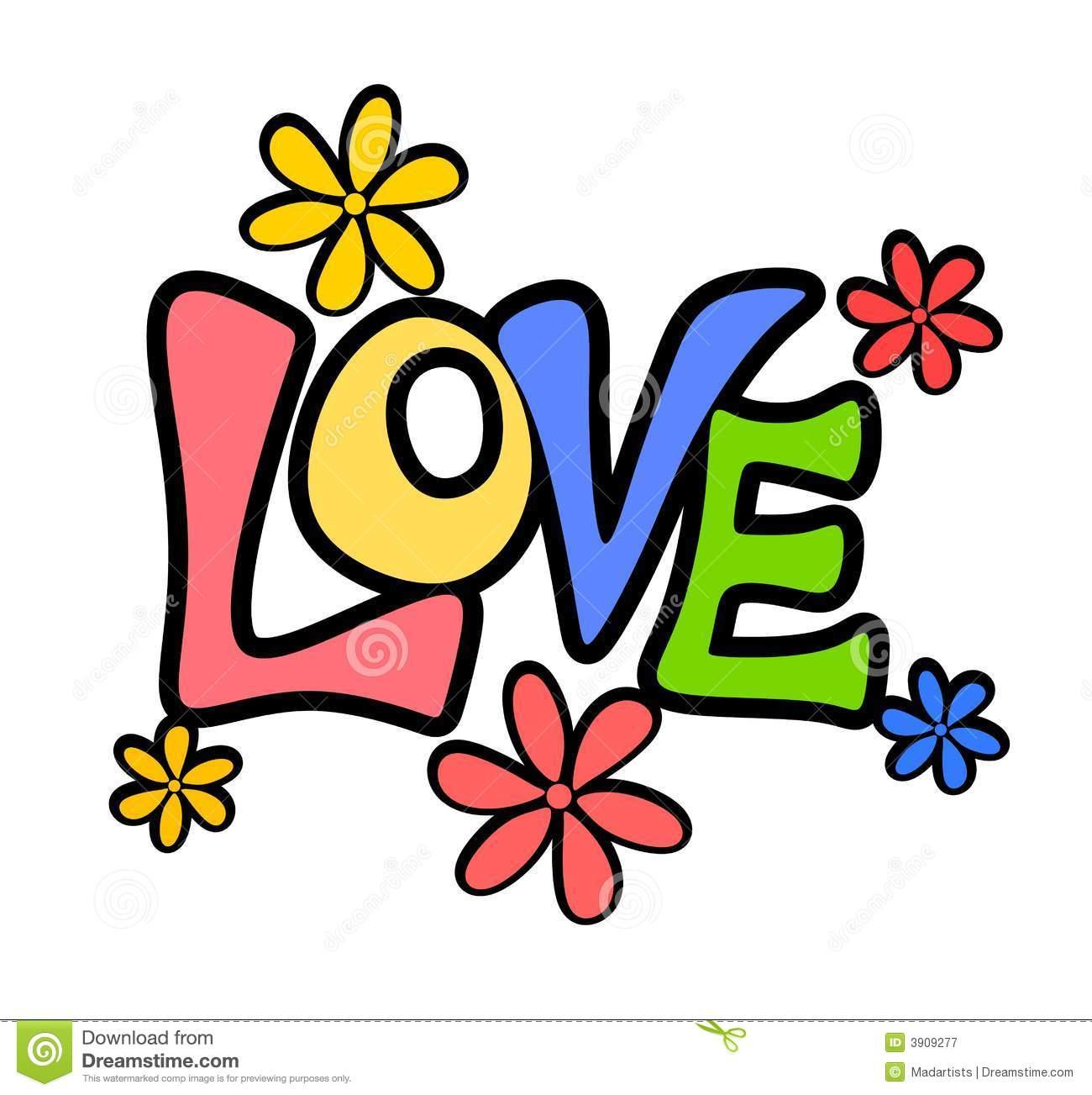 1300x1303 Word Clipart Retro Valentine Love Flowers Logo Banner