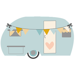 306x306 Camper Clipart Painted Vintage