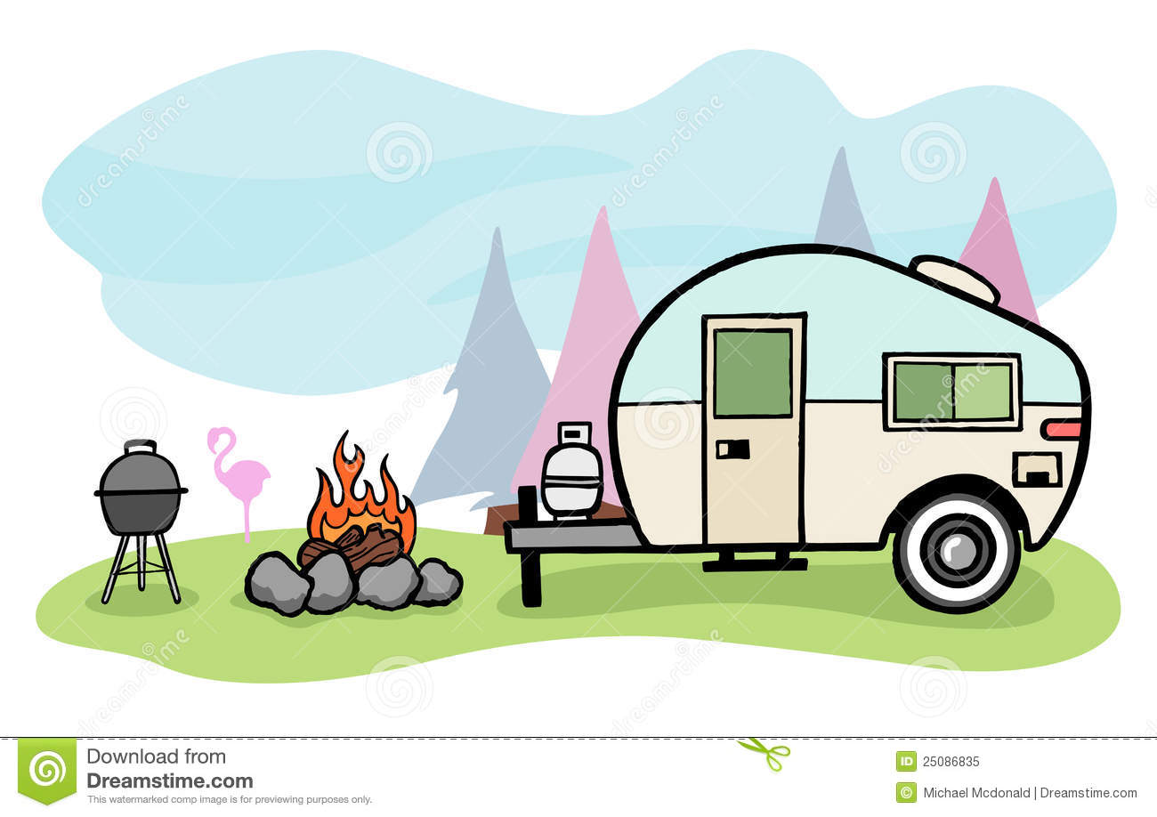 Camping retro. Camper cliparts free download