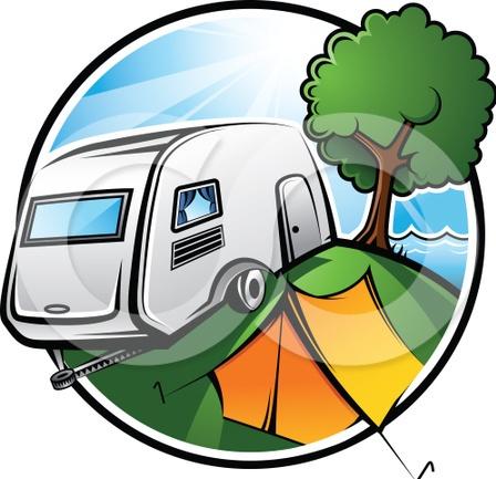 448x433 Clip Art Rv Camp Out Clipart