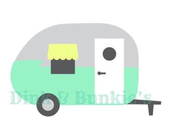 340x270 Retro Camper Vector Etsy