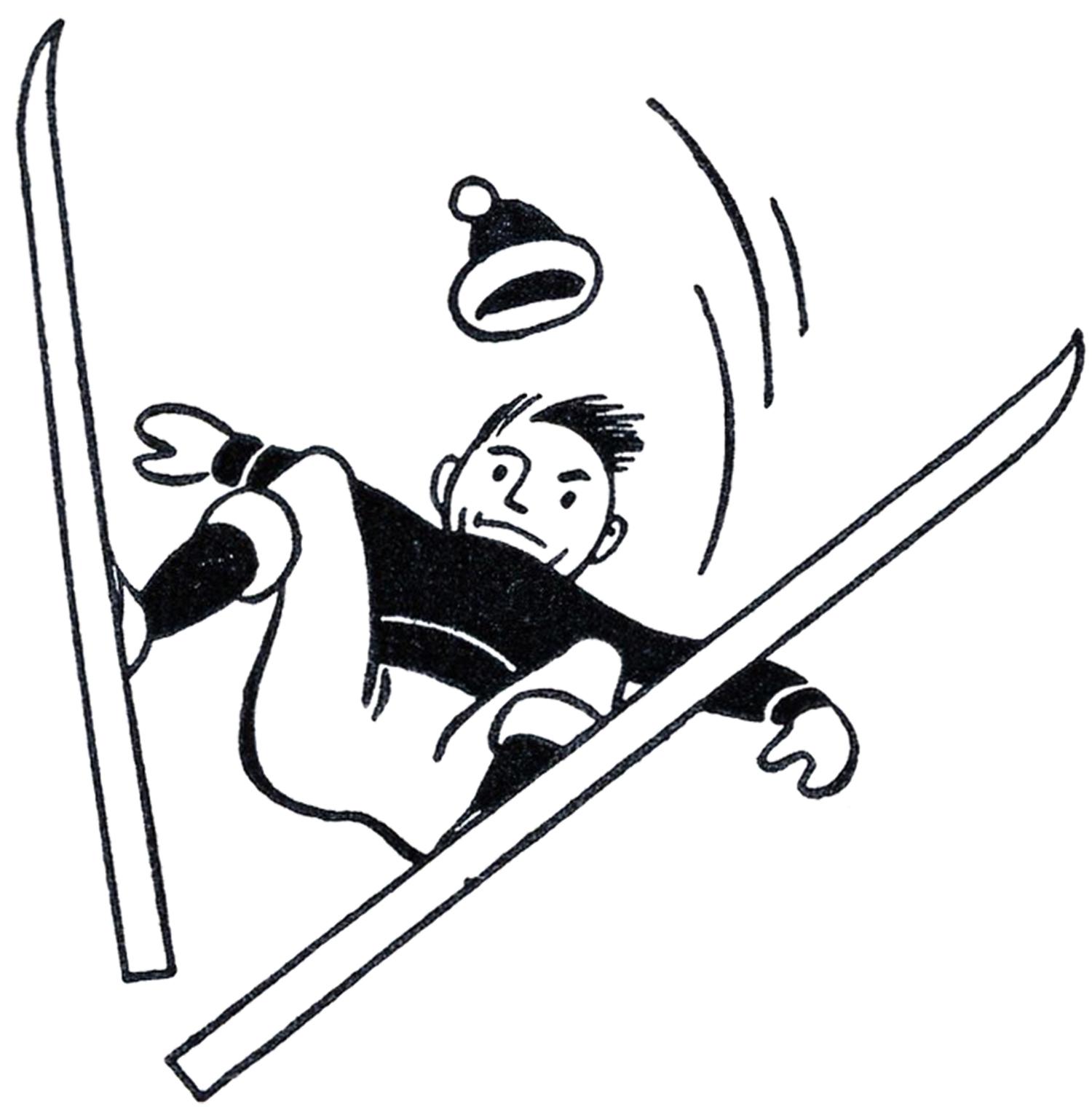 1500x1520 Funny Retro Skiing Clipart Clipart Panda