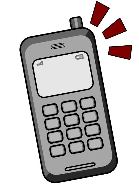 480x640 Free Retro Cellular Phone Clip Art