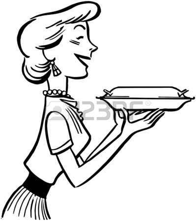 399x450 Retro Housewife Clipart