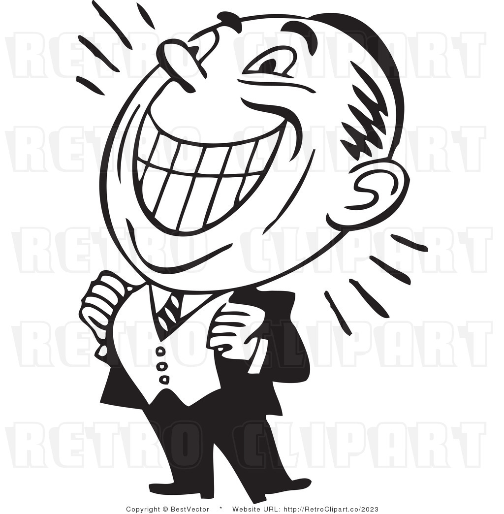 1024x1044 Royalty Free Black And White Retro Vector Clip Art Of A Proud Man