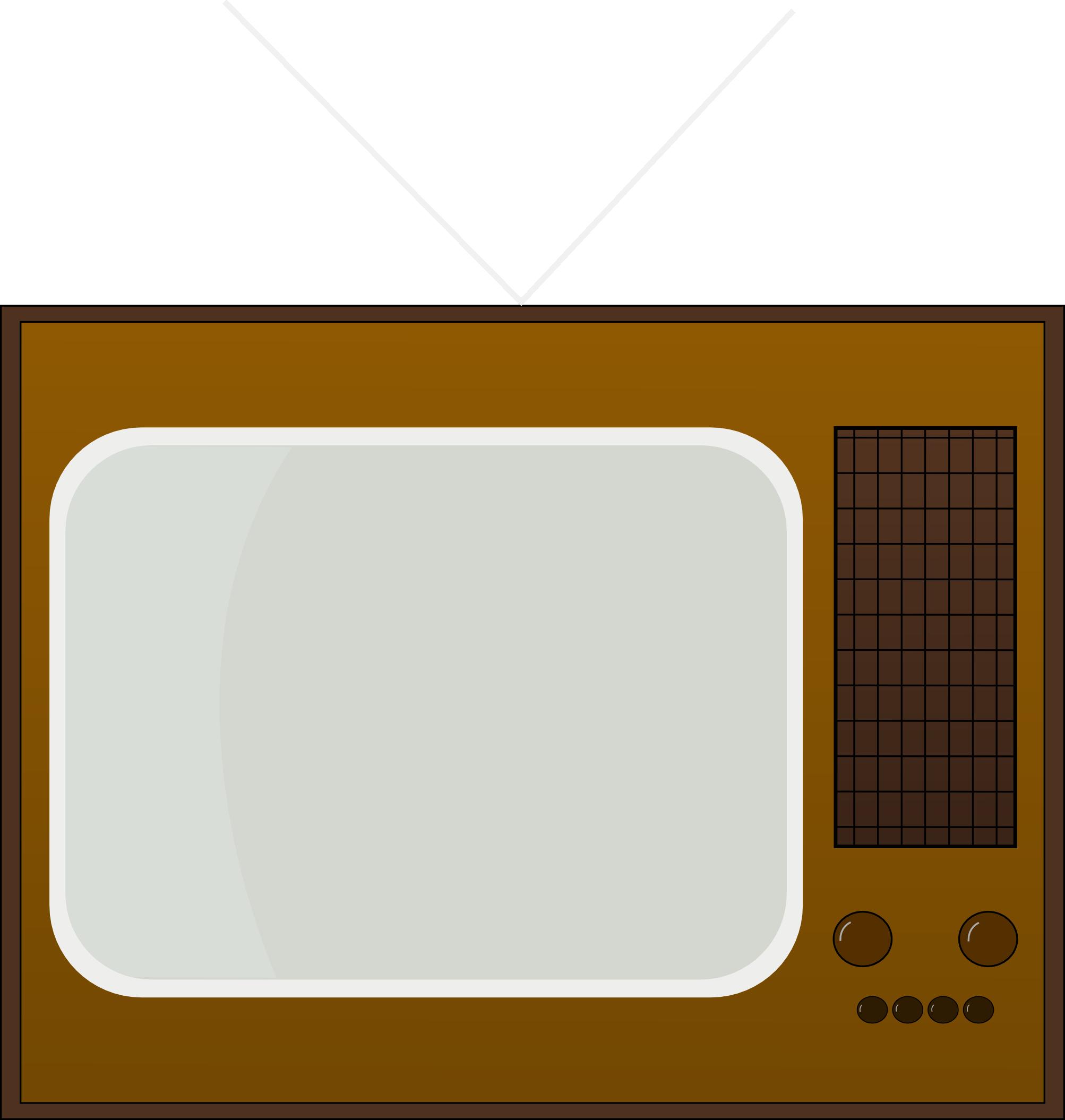 2006x2110 Free Retro Television Clip Art