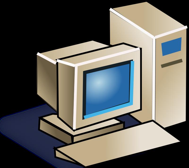 800x709 Retro Computer Clipart