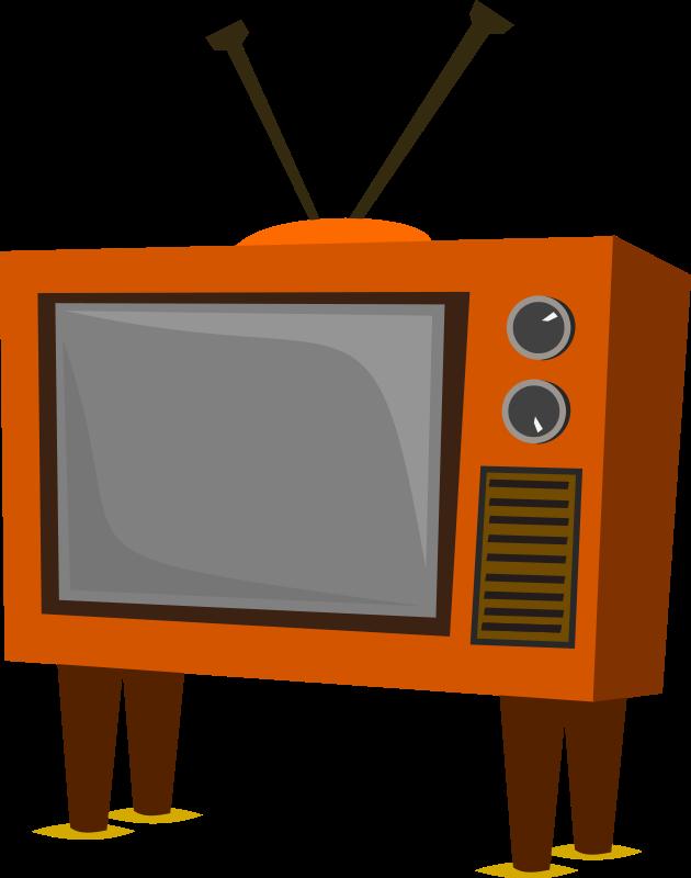 630x800 Television Retro Tv Clipart