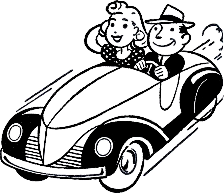 1500x1295 Classic Car Clipart Retro