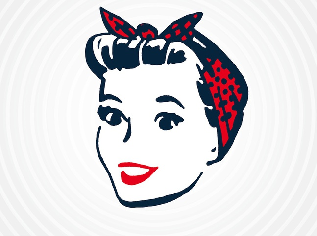 647x483 Retro Housewife Vector, Free Vector Images