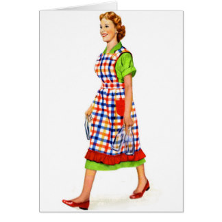 324x324 Vintage Housewife Greeting Cards Zazzle