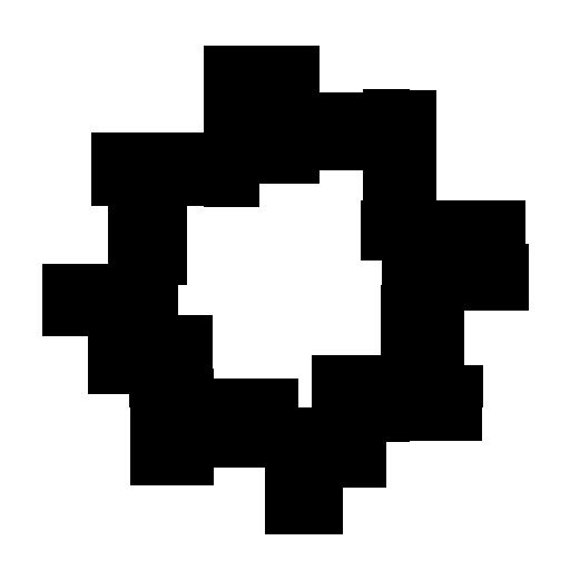 512x512 Black And White Starburst Clipart 2