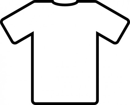 425x344 T Shirt Outline Clip Art