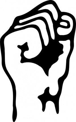 267x425 Raised Fist Clip Art, Vector Raised Fist