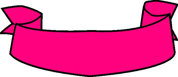 600x261 Ribbon Banner Pink Clip Art