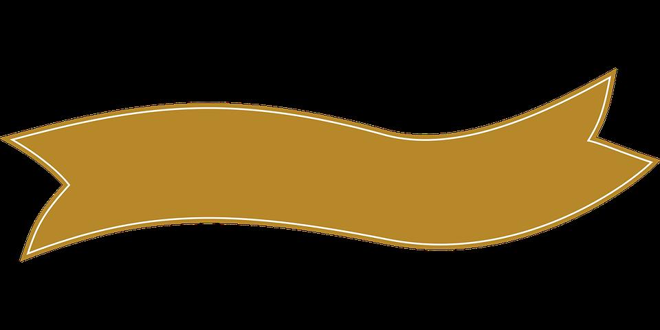 960x480 Ribbon Clipart Beige