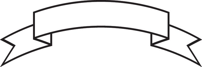793x265 White Ribbon Banner Clipart