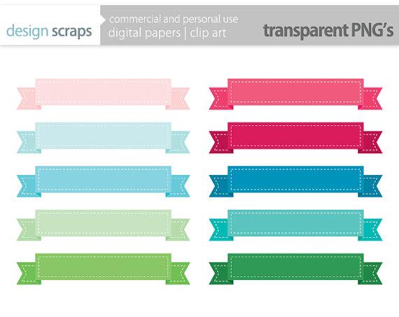 570x453 Ribbon Banner Clip Art, Frames Labels Digital Clipart Personal