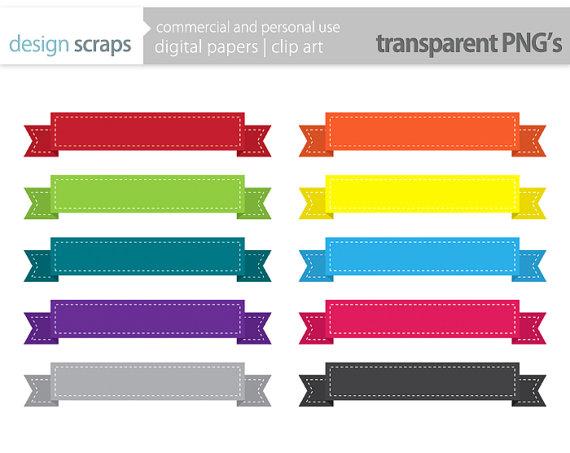 570x453 Ribbon Banner Clip Art Frames Labels Digital By Designscraps