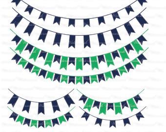 340x270 Green Banner Clip Art