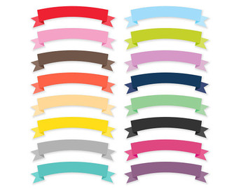 Ribbon Banners Clipart
