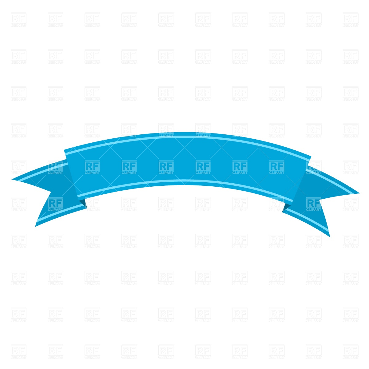 1200x1200 Curved Ribbon Free Vector Clip Art Image