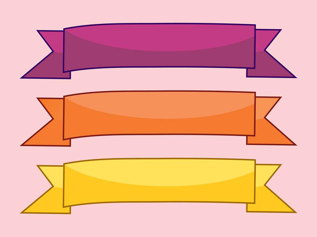 1024x765 Pastel Clipart Flat Ribbon Banner