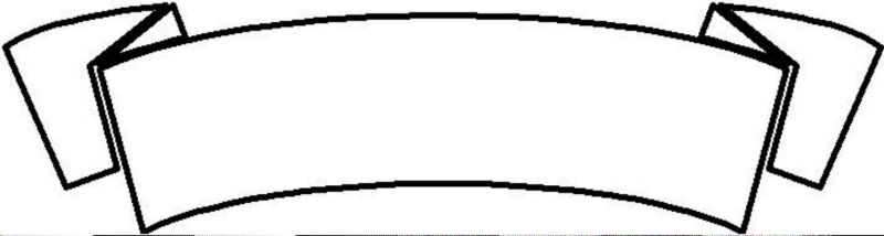 800x214 Simple Ribbon Banner Clip Art Clipart
