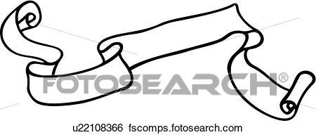 450x192 Clip Art Of , Banners, Renaissance, Ribbon, Scroll, U22108366