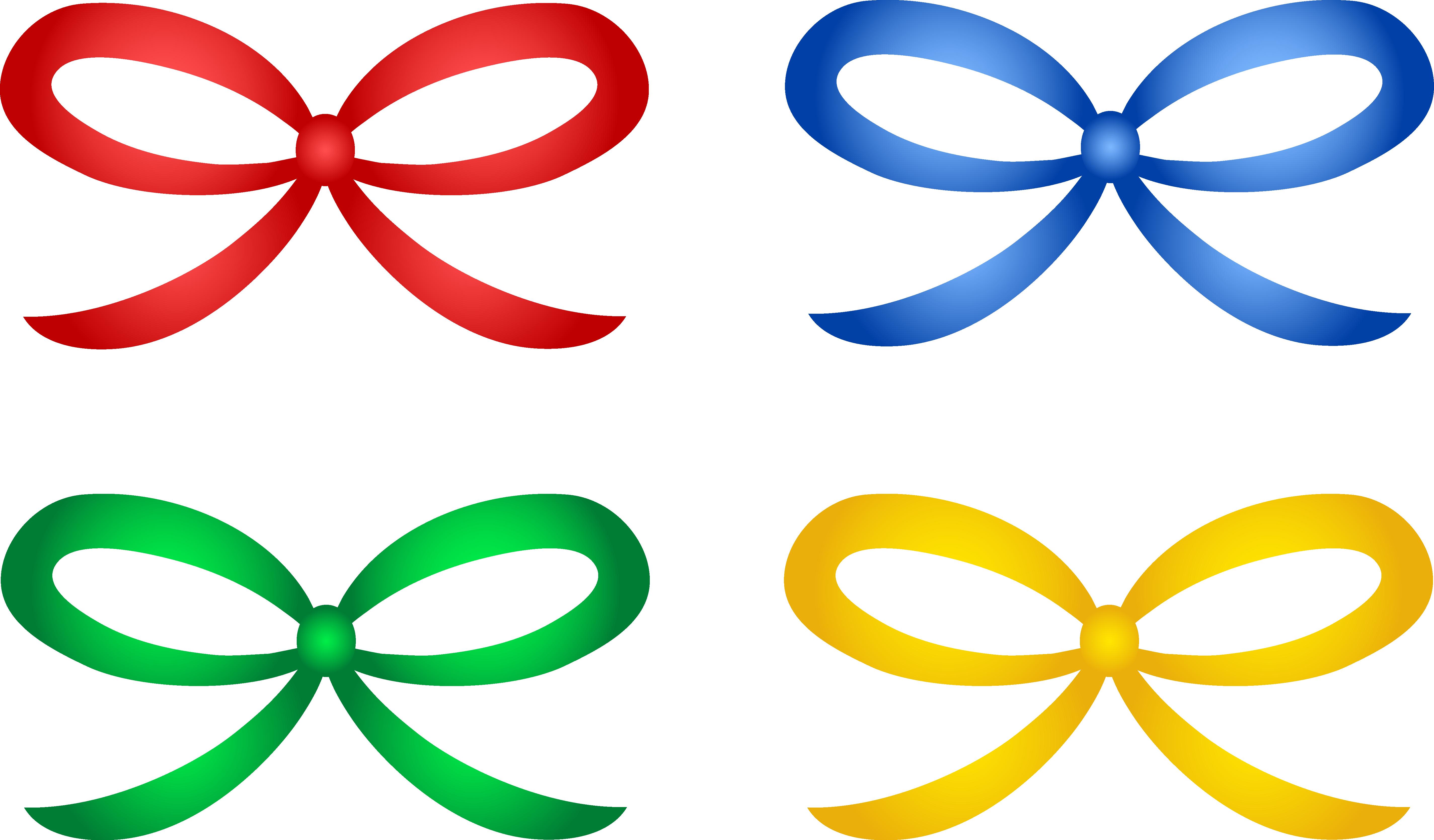 5698x3339 Four Shiny Holiday Ribbons